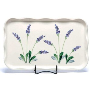 Lavender Large Frilly Tray