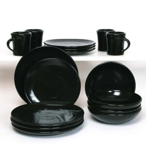 Onyx Black Craftline Dinner Plate Set for Four