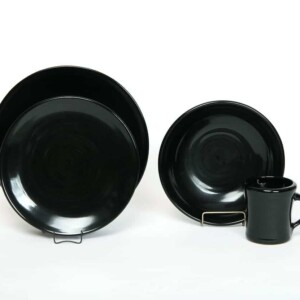 Onyx Black Craftline Dinner Plate Set for One