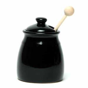 Onyx Black Honey Pot