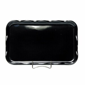 Onyx Black Large Frilly Tray