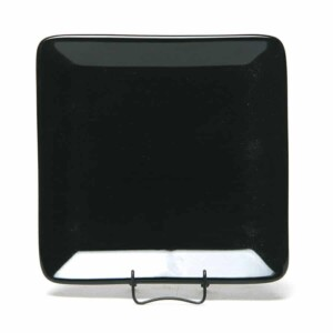 Onyx Black Square Appetizer Plate