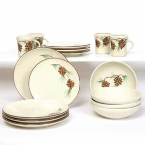 Pinecone Craftline Dinner Plate Set for Four