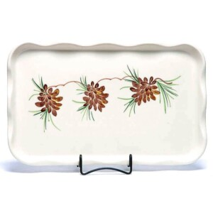 Pinecone Large Frilly Tray
