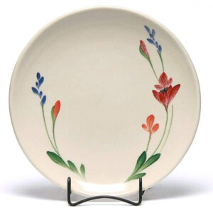 Red Poppy Coupe Dinner Plate