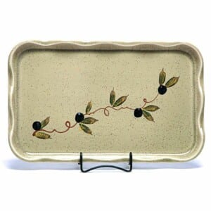 Tuscan Olive Large Frilly Tray