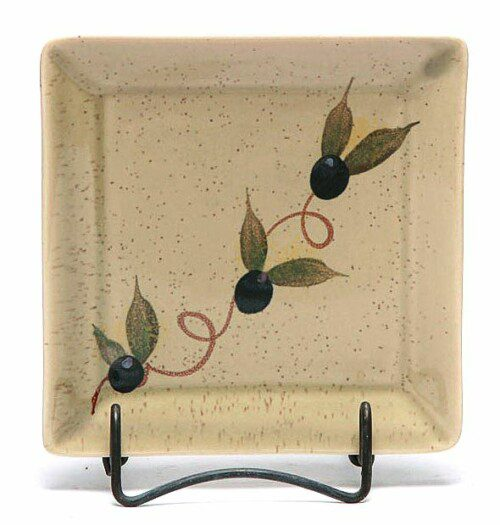 Tuscan Olive Square Appetizer Plate