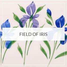 Field Of Iris Pottery Collection