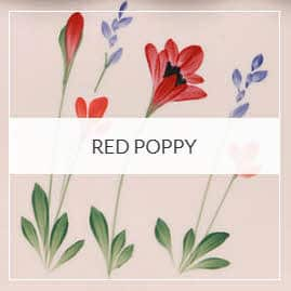 Red Poppy Pottery Collection